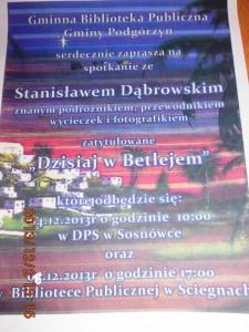 spotkanie z Stanisławem Dąbrowskim -DPS Sosnówka grudzień 2013 (2)